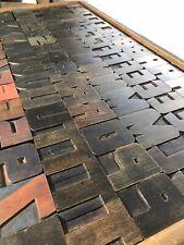 Rare Wood Letterpress Print Type 103 Pcs 2 716 Set Lot Vtg
