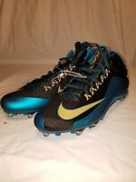 NIKE ALPHA PRO 2 SIZE 13 MEN'S FOOTBALL CLEATS BRAND NEW TEAL BLACK & GOLD SHOES