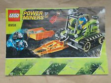 USED LEGO 8958 INSTRUCTIONS ONLY, POWER MINERS GRANITE GRINDER. NO LEGO INCLUDED