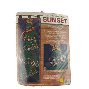 Christmas Tree Advent Calendar Felt Decor Kit Sunset18094 Vintage