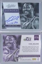 2015-16 Panini Absolute Heroes Autographs #HA-KM Karl Malone Utah Jazz Auto Card