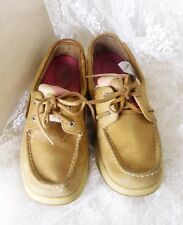 Sperry Women's Leather Top-Sider Shoes Size 8M - Pink Plaid Sides Style #9772856