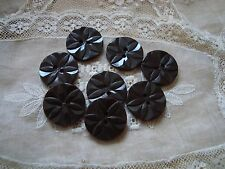 8 Brown   Raised Flower 1940's  Plastic Buttons
