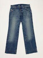 Diesel jeans bumix uomo usato W30 tg 44 blu denim used straight boyfriend T5729