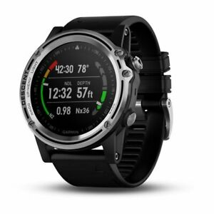 Garmin Descent Mk1 Silver and Black Band Versatile Dive Watch 010-01760-00