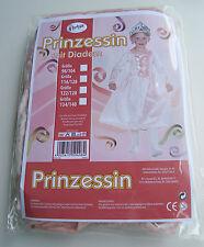 Prinzessin Kostüm rosa Gr. 128 mit mit Diadem Karneval Mädchenkostüm //#ae3