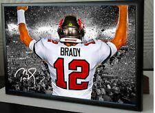 More details for tom brady tampa bay  2020-21 superbowl framed a4 canvas