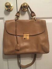 Marc Jacobs Satchel 1984 Leather Bag Handbag Purse Italy Fawn Tan Beige
