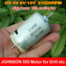 For Johnson 550 Motor DC12V 21500RPM Power Tool Motor Biaxial Large Torque Motor