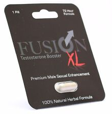 1 x Fusion XL Sample Sex Pill Testosterone Booster Male Enhancement Erection