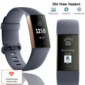 Fitbit Charge 3 Advanced Fitness Tracker Heart Rate Swim Tracking Rose Battery