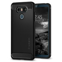 Spigen® For LG G6 [Rugged Armor] Ultra Slim Shockproof Protective TPU Case Cover