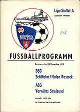 DDR-Liga 79/80 ASG hacia adelante Stralsund-navegación marítima/puerto rostock, 25.11.1979