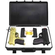 CYMA TWIN SPRING DUAL AIRSOFT PISTOL COMBO PACK SET Hand Gun w/ Case 6mm BB BBs