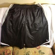 NIKE BASKETBALL SHORTS - XL - THROWBACKS- BLACK /GRAY