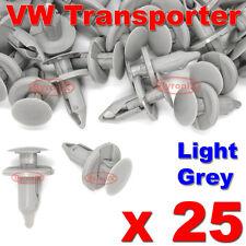 25 VW TRANSPORTER T4 T5 LONGER LONG TRIM PANEL CLIPS LIGHT GREY CARPET LINING