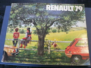 RENAULT 1979 BOOK WITH ALL MODELS,RODEO,4,5,6,12,14,30 ALL RENAULT MODELS A