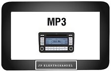 VW RCD 300 MP3 SILVER VW GOLF EOS CADDY PASSAT TOURAN Original Autoradio CD