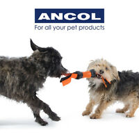 Ancol Dumbell Flapper Dog Pet Puppy Multi Sensory Toy Teething Chew Rubber