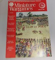 Miniature Wargames Number 70 March 1989 oop SC