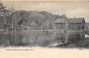 H78/ Irvington New Jersey Postcard c1910 Drake's Upper Pond Barn 143