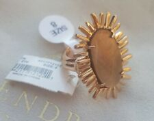 Kendra Scott Owen Ring Rose Gold Brown Mother of Pearl Fashion KS RARE Jewelry