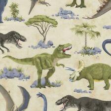 Novelty Fabrics from Timeless Treasures - Tan Dinosaurs #C5723