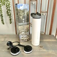 Sucforst White Vacuum Insulated 24oz 18/8 Stainless Steel Water Bottle Flask