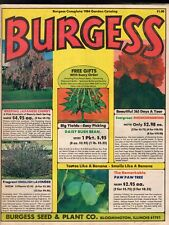 1984 BURGESS GARDEN CATALOG-SEEDS-BULBS-PLANTS-FLOWERS-GARDENS