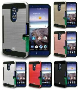 CREDIT CARD SLOT CASE COVER STAND FOR ZTE IMPERIAL MAX, MAX DUO, GRAND X MAX 2