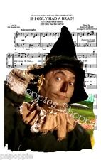 Fabric Block Sheet Music The Scarecrow The Wizard of Oz If I Only Had a Brain