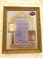 NEW Picture Frame Real Wood Gold with Glass Wire Joan Barrett Legacy Mirrors