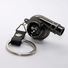 Porte-clés - Turbo Cuir Chrome Turbo Voiture Boost Porte-clé Pendentif