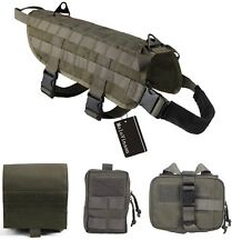 MoloVinson K9 Tactical Military Dog Molle Vest Harness - Ranger Green