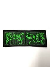 DYING FETUS GREEN LOGO EMBROIDERED  PATCH