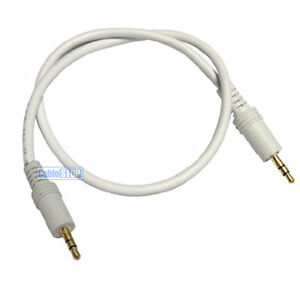 3.5 MM STEREO 1.2 metre WHITE 3.5mm AUX Stereo Jack Cable 1.2m BUDGET AUDIO LEAD
