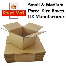 More details for royal mail small & medium parcel postal mailing cardboard boxes single wall