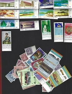St. Lucia sc#261-74 (1970) Incomplete MNH + Nice lot