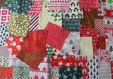 "Wow! Christmas fabric bundle 20 assorted  pieces  5"" square"