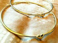 For Women Girls Fashion Gold Love Heart Bangle Cuff Bracelet Jewelry Cute Gift