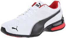 Mens Puma Tazon 6 Running White / Black / Red / Silver Sz 10 188423 02 18843202