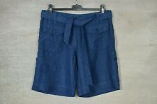 WRAP LONDON *New* RED & BLUE 100% linen casual summer shorts 12 14 16