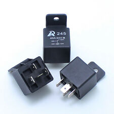 3 pieces - 24V 40A 4PIN close car relay Shell with a fixed orifice