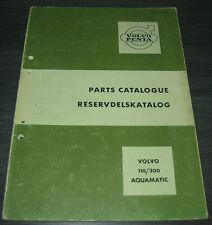 Ersatzteilkatalog Volvo Penta 110 / 200 Aquamatic Parts Catalogue Stand 03/1965
