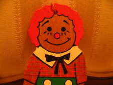 Vintage Christmas Wood Hand Painted Raggedy Andy Xmas Ornament