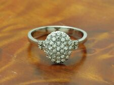 18kt 750 White Gold Ring with 0,39ct Diamond Decorations/4,0g/ Rg 57,5