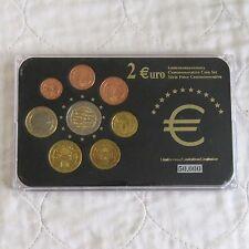 AUSTRIA 2005 COMMEMORATIVE 2 EURO IN 8 COIN EURO TYPE SET - pack