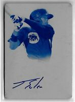 JORGE SOLER 2013 BOWMAN STERLING CYAN PRINTING PLATE AUTOGRAPH #1/1 AUTO ROOKIE!