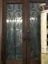 """French Doors Spanish Style Front Doors Iron And Glass Double Entry Doors 104x72"""""""