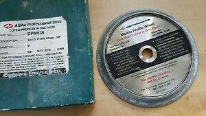 """Alpha Marble Profile Wheel- 3/8""""  DPM638 6"""" diameter 5/8"""" arbor"""